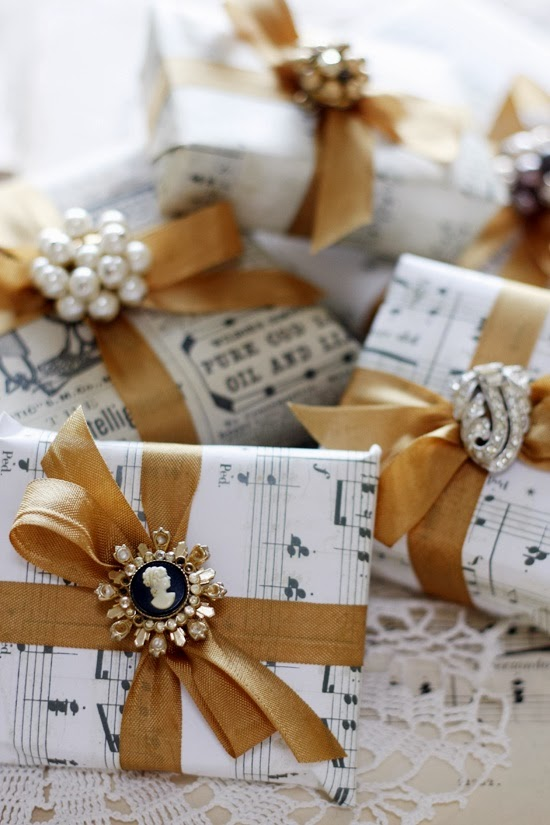 Beautiful Inspiration Christmas Gift Wrapping Champagne Macarons Blog